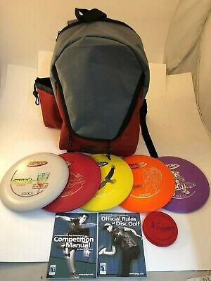 NEW FRISBEE DISC GOLF INNOVA BUILD YOUR OWN 5 PACK SET w/ BACKPACK BAG MINI +](Frisbee Golf Set)