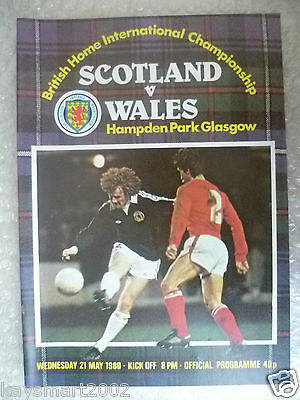1980 Official Programme SCOTLAND v WALES, 21 May