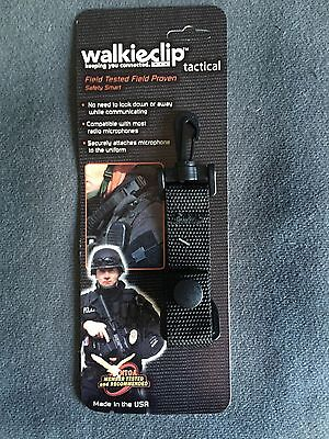 Tactical Walkieclip Mic Holder Shirt Clip Attachment Policefireemt Radio