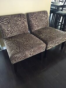 Zebra Print Accent Chairs