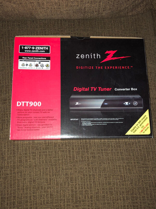 Zenith DTT900 Digital TV Tuner Converter Box w/ Cables and Remote NEW~ FREE SHIP