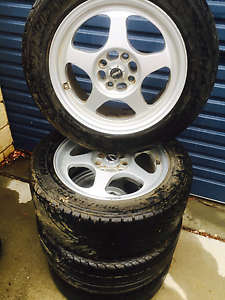 Multistud 15 inch wheels and tyres Bungendore Queanbeyan Area Preview