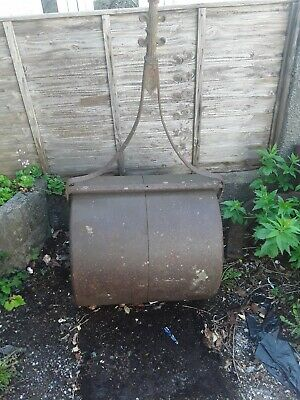 Antique Garden Roller - Large Groundsman Type With Internal Counterweight