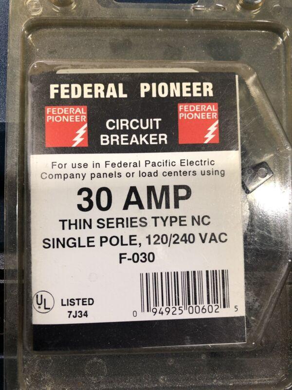 (4) Federal Pacific Breakers 30 Amp