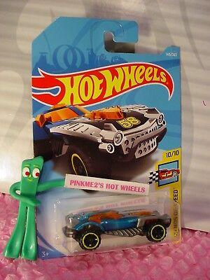 INDY 500 OVAL #123✰blue//orange;Gulf✰Legends ✰2018 Int/'l Hot Wheels WW case F