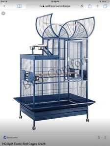 Large bird cage(gun metal grey/black-not blue)