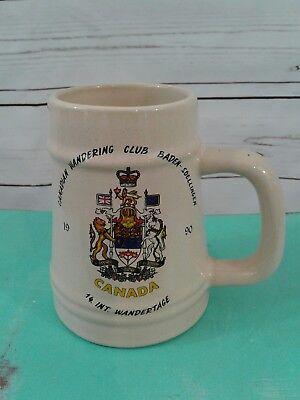 Canadian Wandering Club  Baden  Soellingen 1990 14 Int  Wandertage Mug Stein