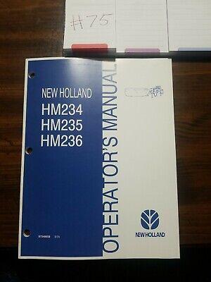 New Holland Hm234 Hm235 Hm236 Disc Mower Operators Maintenance Manual Original