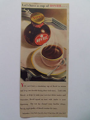 BOVRIL VINTAGE WARTIME ADVERT DATED 1945 29cm x 12cm
