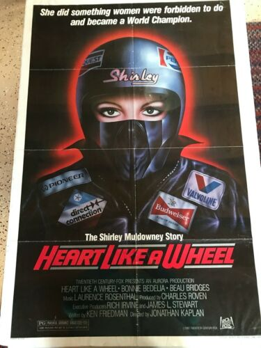 """VINTAGE GIANT SIZE SHIRLEY MULDOWNEY """"HEART LIKE A WHEEL""""  MOVIE POSTER 42X27"""