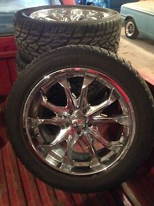 "22"" ice wheels and tires"