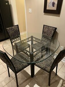 Glass kitchen table and chairs