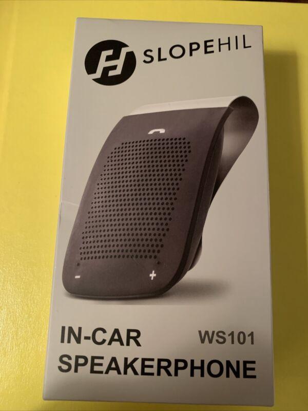 Slopehil In-car Bluetooth Speakerphone Hands-Free Visor Mount WS-102 New In Box