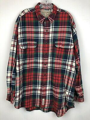 Abercrombie & Fitch Men's Flannel Shirt Size L Big Shirts Soft Cotton Oversized for sale  Shipping to India