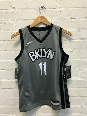 Nike Brooklyn Nets NBA Kid's Statement Jersey - 10-12 Years - Irving 11 - New