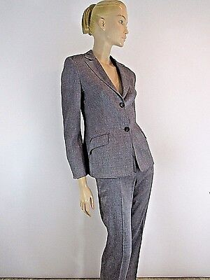 (PIAZZA SEMPIONE GRAY SINGLE BREASTED PANTS  SUIT SIZE 40)