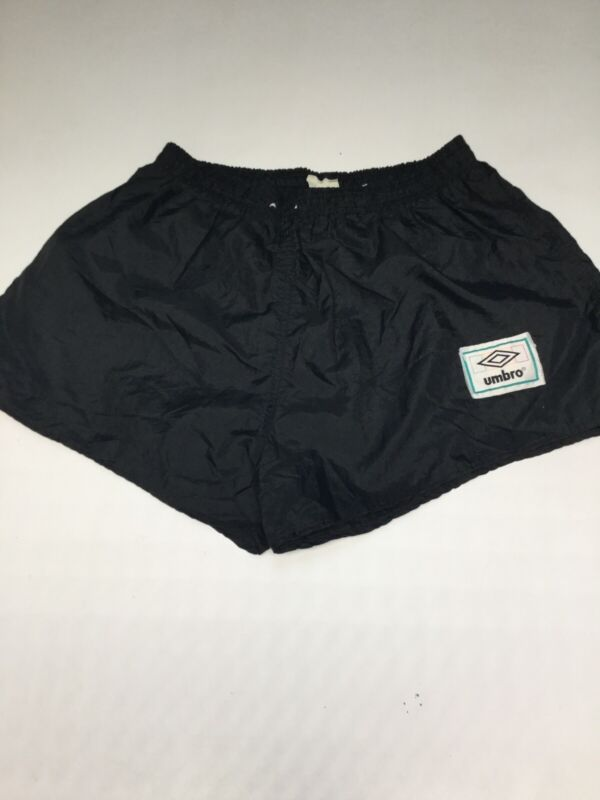 Umbro Vintage Black With Colorful Patch Made In USA Adult Medium