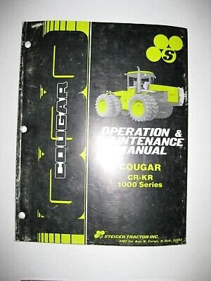 Steiger Tractor Cougar Cr-kr 1000 Series Operation Manual