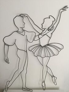 Male and female ballerina wire forms - $75 (Sheppard and don mil