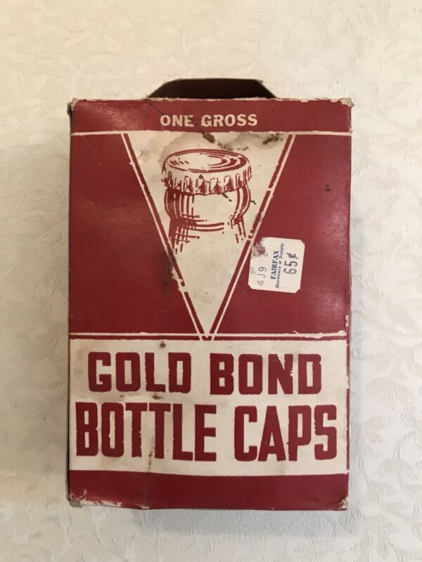 Vintage Gold Bond Bottle Caps