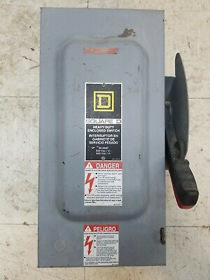 Square D H362 60 Amp Fusible Safety Switch Used