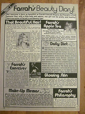 Farrah Fawcett, Charlie's Angels, Full Page Vintage Clipping