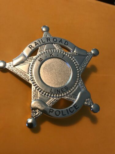 "MISSOURI KANSAS TEXAS Railroad Lines Badge 2.5"" M - K - T"
