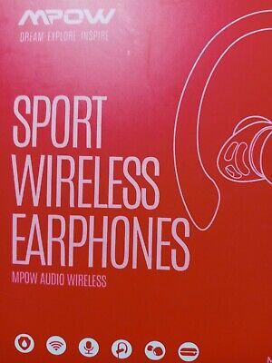 Mpow Bluetooth Earbuds Best Wireless Headphones Running Sports Gym Headset USA
