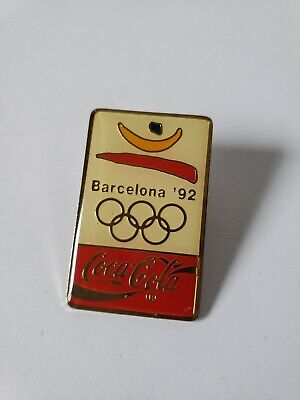 Coca-Cola 1992 Barcelona Commemorative Olympic Pin *VINTAGE*