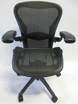 Herman Miller Aeron Chair - Size B Fully Adjustable In Excellent Condition