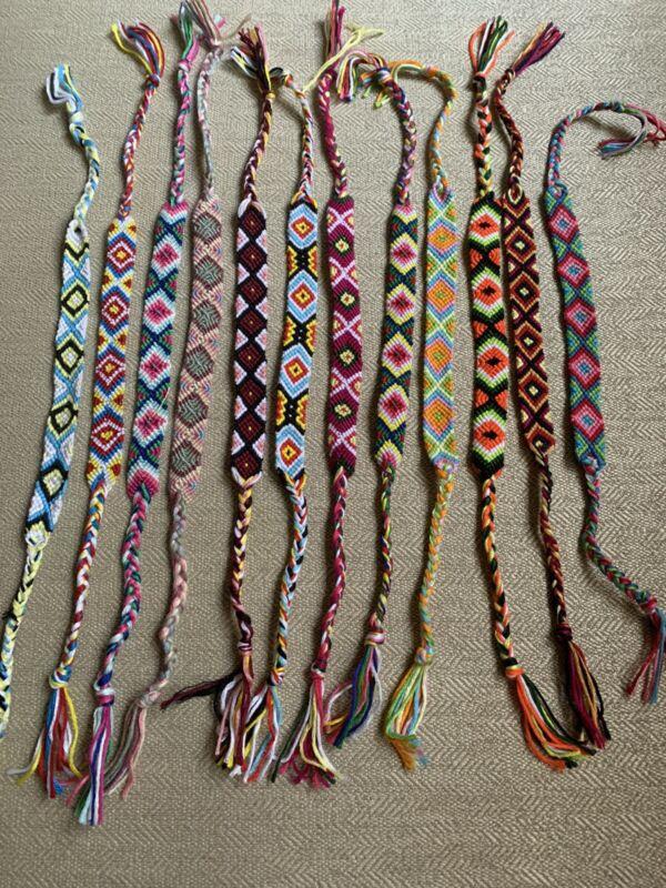 RIMOBUL Nepal Style Woven Friendship Bracelets - 12 Pack Brand New