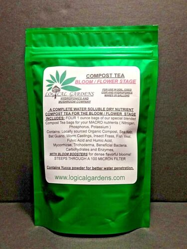 COMPOST TEA, BLOOM / FLOWER STAGE, FOR USE IN SOIL AND SOILESS MEDIA