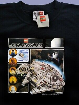 2004 Lego Star Wars Millennium Falcon T-shirt, size Large, Never worn with tags!