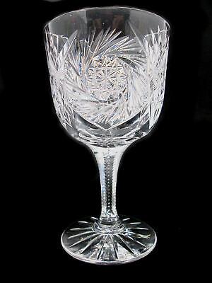 ABP T.B Clark TKC2 Pattern Water Goblet American Brilliant Period Fan & Pinwheel