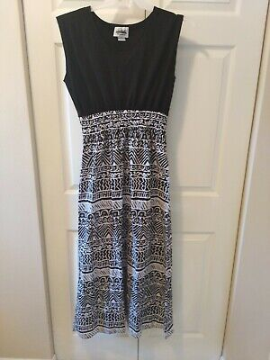 Womens maxi dresses size medium 10 12 full length extra-long sleeveless dress  - Special Dresses