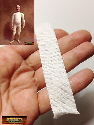 "M00752-White MOREZMORE 16 mm 5/8"" Tubular Gauze Doll Stockinette Body Wrap DWS"