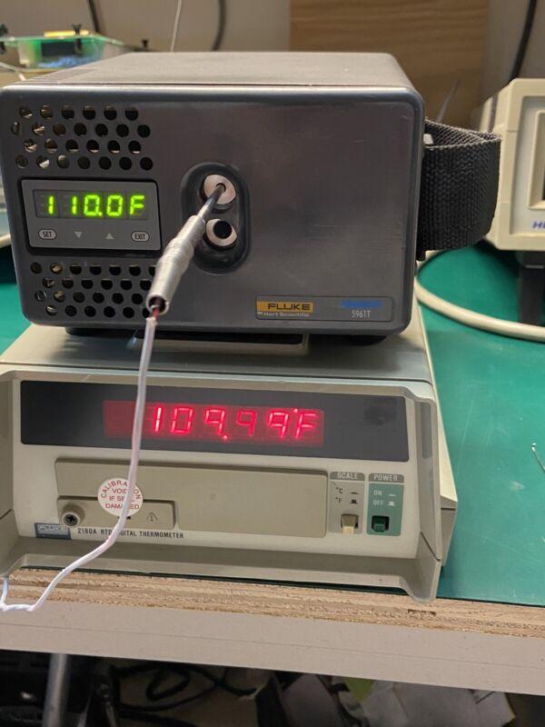Fluke 9102S Transcat 5961T Handheld Dry Well -10°C 122°C Temperature Calibrator