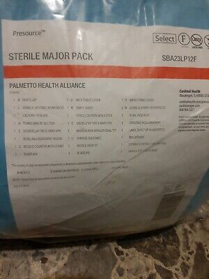 New Cardinal Health Sterile Major Pack Sba23lp12f