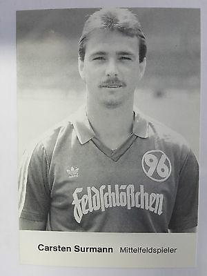 AK o.Orig.AG Carsten Surmann Fußball Hannover 96 Saison 86/87 Rarität!