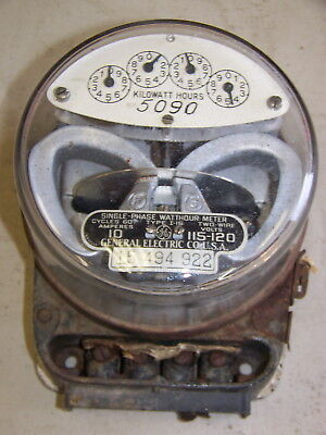 Vintage Ge General Electric Single-phase Watthour Meter