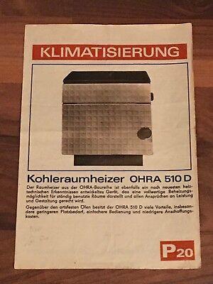 Prospekt DDR Kohleraumheizer OHRA 510 D Ofen und Herdbau Rathenow Klimatisierung online kaufen