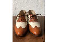Antonio Cerrelli 6656 Mens Whiskey Brown /& White Fashion Spectator Oxford Shoes