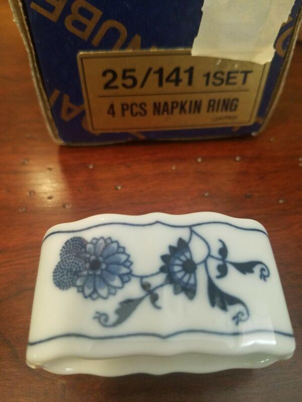 Sale Blue Danube (Japan) Napkin Rings (4) in Oriinal box