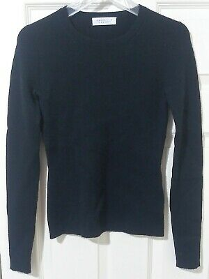 Gabriela Hearst Black Wool Cashmere Stretch Crewneck Sweater Women's Size XS