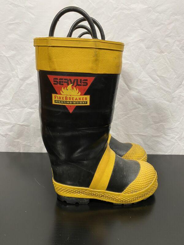 Servus Firefighter Fire Boots Mens Size 5M