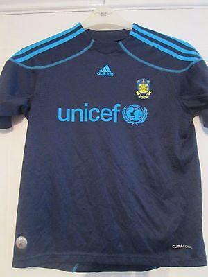Brondby 2009-2010 Away Football Shirt Size 11-12 Years /41418
