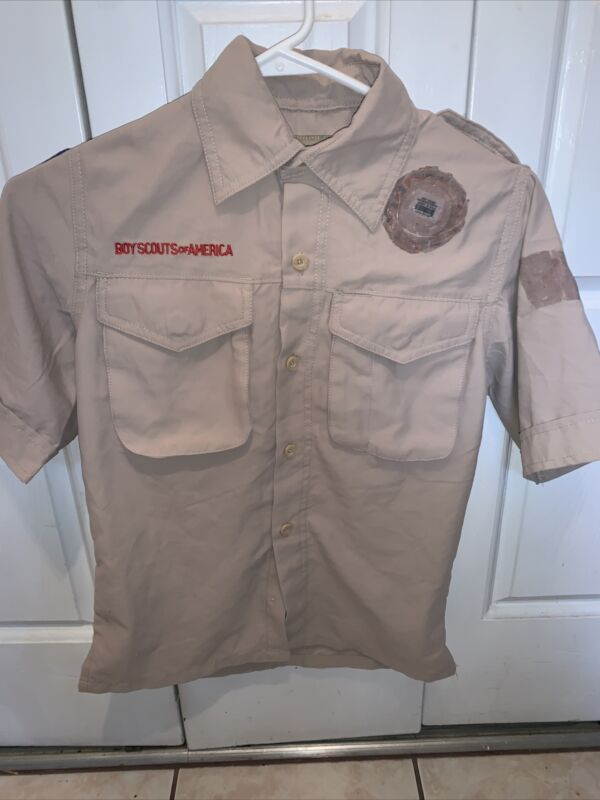 Vented Microfiber Boy Scout BSA UNIFORM SHIRT Youth Small Poly New Style K64