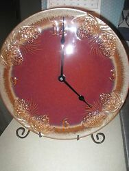 Big Sky Carvers Fusion Pinecone Clock Table/Wall Mantle Rustic Cabin Lodge Decor