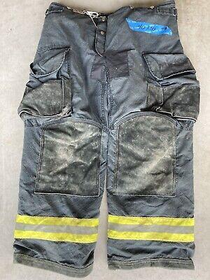 Firefighter Janesville Lion Apparel Turnout Bunker Pants 40x30 Black 2008