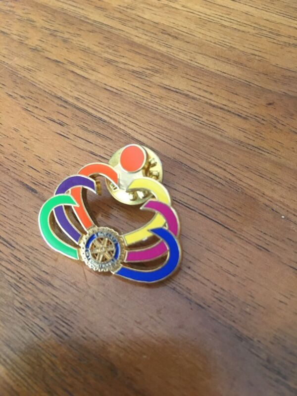 Rotary International Pin PinBack Colorful